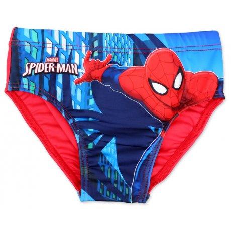 Chlapecké slipové plavky Spiderman - červené