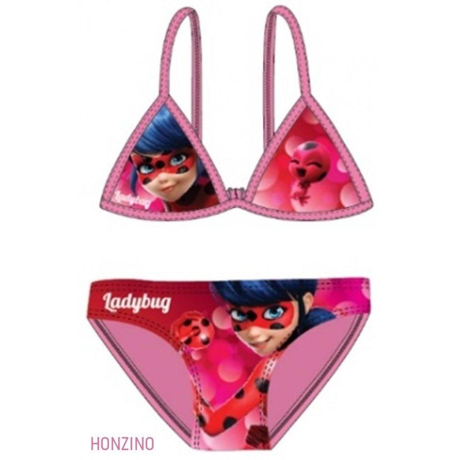 Dívčí dvoudílné plavky Kouzelná beruška - růžové