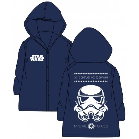 Dětská pláštěnka Star Wars - Stormtrooper - tm. modrá