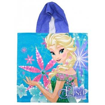 Pončo - osuška s kapucí Ledové království - Anna & Elsa