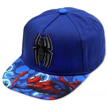 Hip Hop kšiltovka Spiderman - modrá