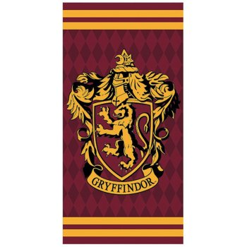 Bavlněná plážová osuška Harry Potter - Gryffindor