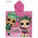 Dětské pončo - osuška s kapucí L.O.L. Surprise