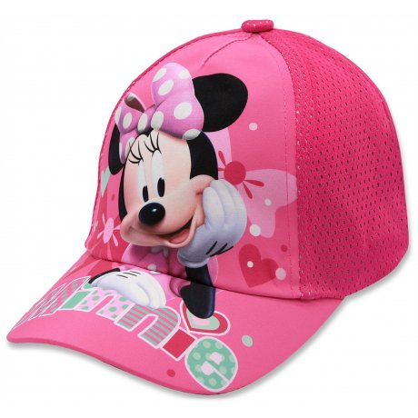 Dívčí kšiltovka Minnie Mouse - Disney - tm. růžová
