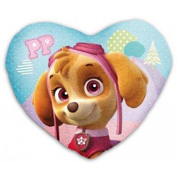 Tvarovaný polštář Tlapková patrola - Paw Patrol - srdce