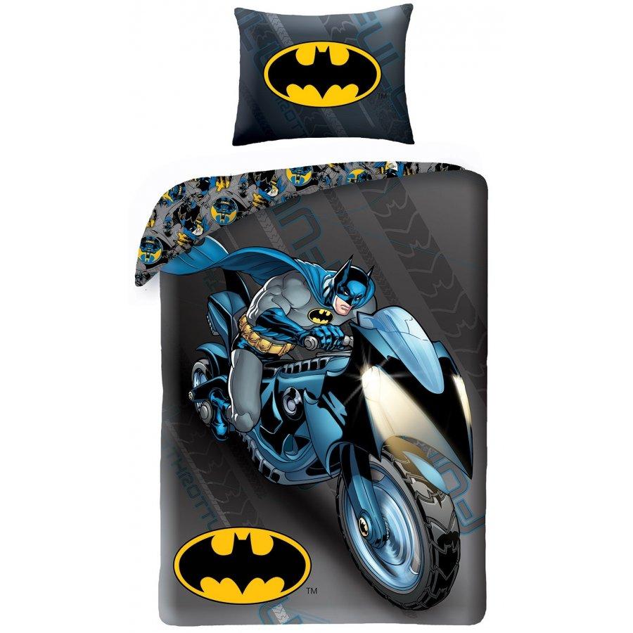 Halantex · Bavlněné ložní povlečení Batman na motorce - 140 x 200 cm + 70 x 90 cm