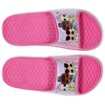 Dívčí gumové pantofle L.O.L. Surprise - tmavě růžové