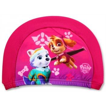 Dívčí koupací čepice Tlapková patrola - růžová