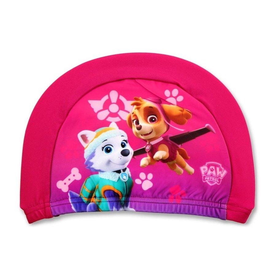 Setino · Dětská / dívčí koupací čepice Tlapková patrola - Paw Patrol - růžová