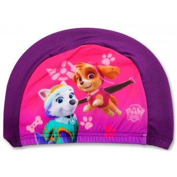 Dívčí koupací čepice Tlapková patrola - fialová