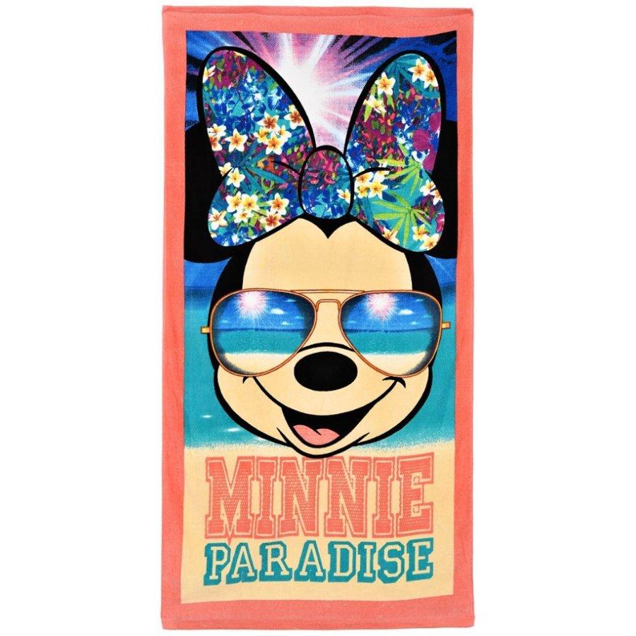 SunCity · Plážová osuška Minnie Mouse - motiv Paradise - Disney - 70 x 140 cm