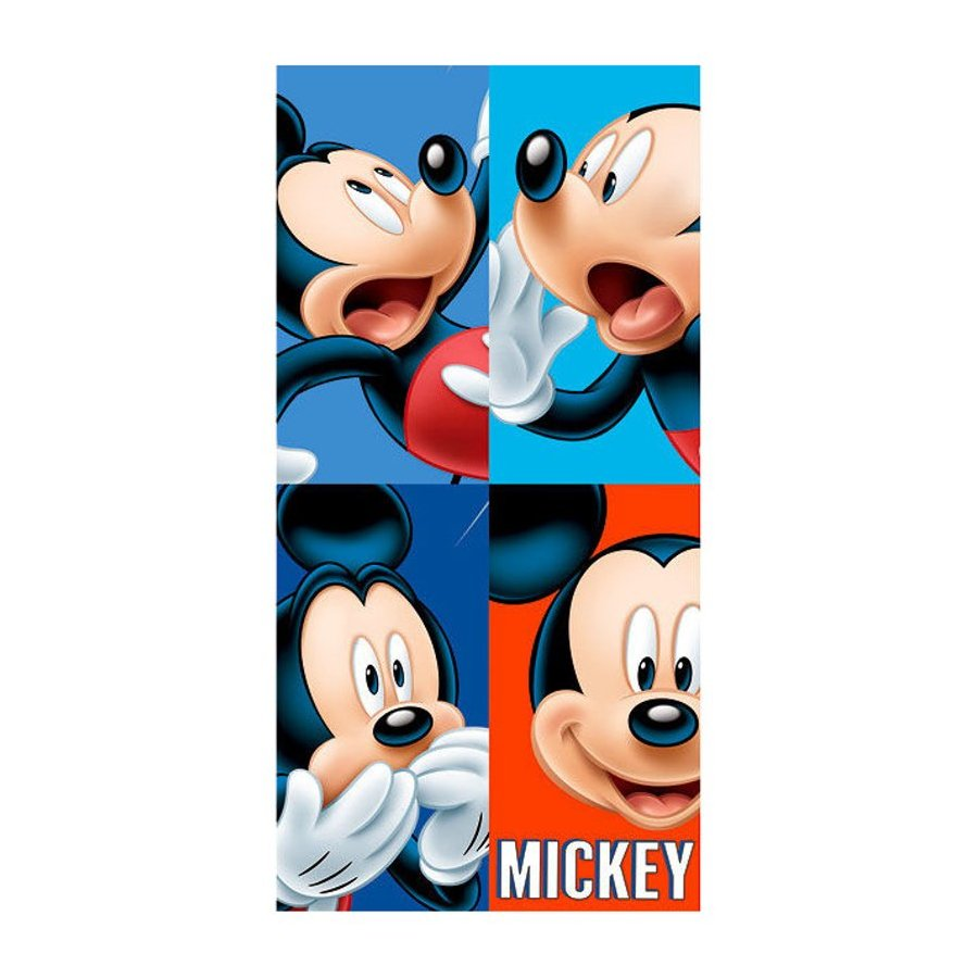 Plážová osuška Disney - portréty Mickey Mouse
