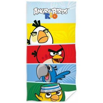 Bavlněná plážová osuška Angry Birds - RIO