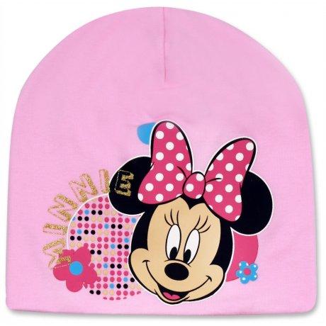 Dívčí jarní / podzimní čepice Minnie Mouse - růžová