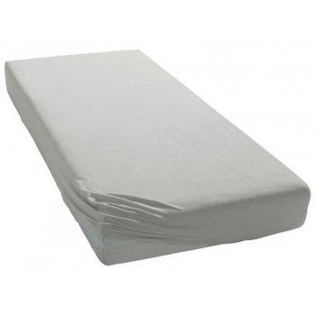 Jersey prostěradlo na jednolůžko - 90 x 200 cm - šedé