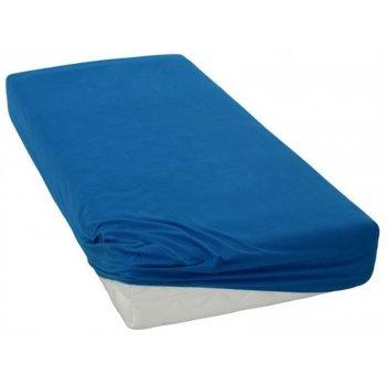 Jersey prostěradlo na jednolůžko - 90 x 200 cm - tmavě modré