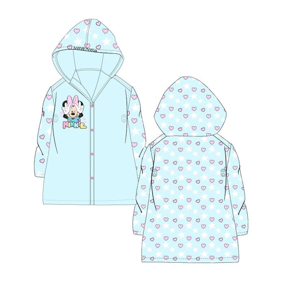 Dětská pláštěnka Mnnie Mouse - srdíčka a hvězdy - modrá