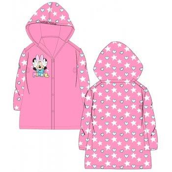 Dívčí pláštěnka Mnnie Mouse - srdíčka a hvězdy - růžová