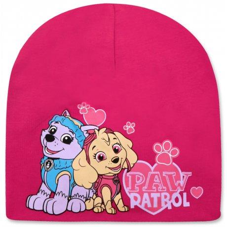 Dívčí jarní / podzimní čepice Paw Patrol - tm. růžová