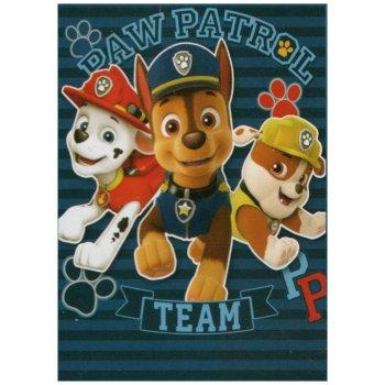 Fleecová deka Tlapková patrola - Paw Patrol Team