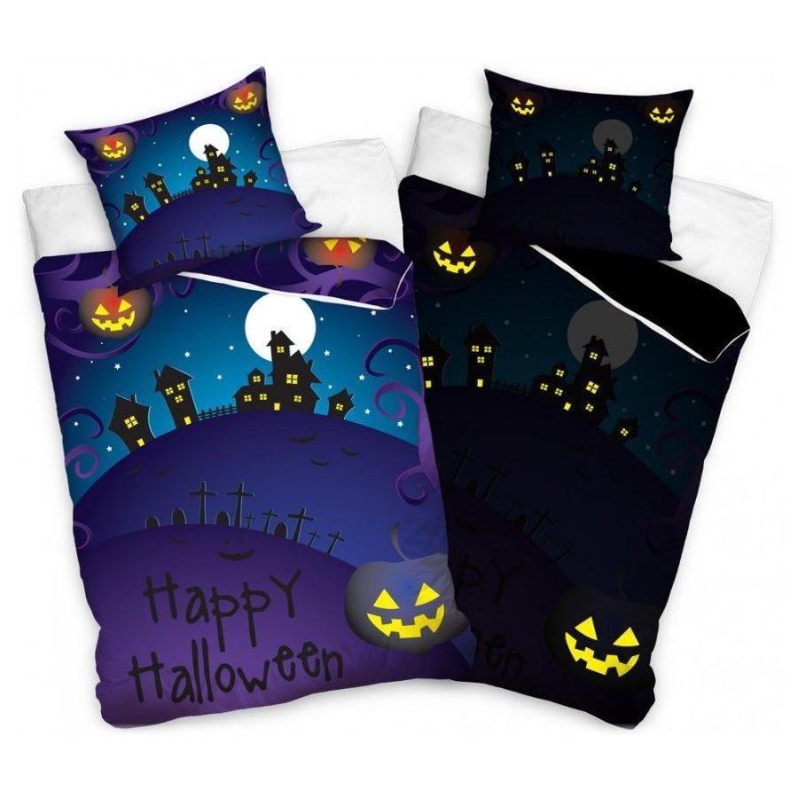 Svítící ložní povlečení Happy Halloween