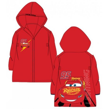 Dětská pláštěnka Auta - McQueen - červená