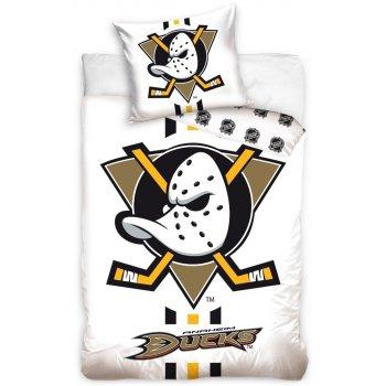 Hokejové ložní povlečení NHL Anaheim Mighty Ducks - bílé