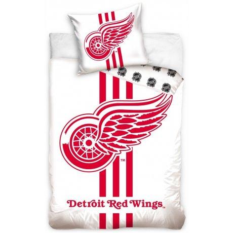 Hokejové ložní povlečení NHL Detroit Red Wings - bílé