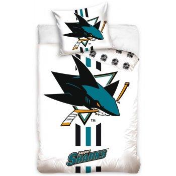 Hokejové ložní povlečení NHL San Jose Sharks - bílé
