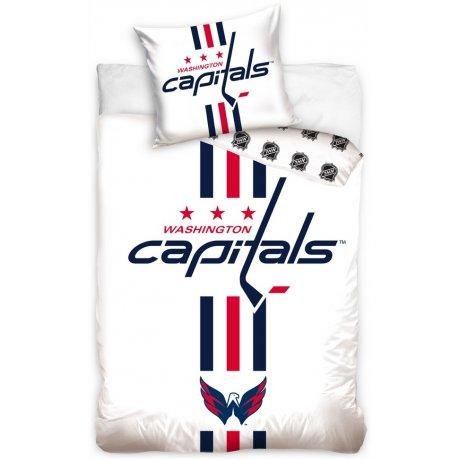 Hokejové ložní povlečení NHL Washington Capitals - bílé