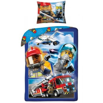 Bavlněné ložní povlečení LEGO City - hasiči