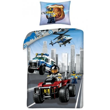 Bavlněné ložní povlečení LEGO City - policie