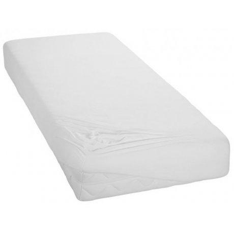 Jersey prostěradlo na jednolůžko - 90 x 200 cm - bílé
