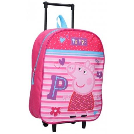 Dětský cestovní kufr na kolečkách Prasátko Peppa