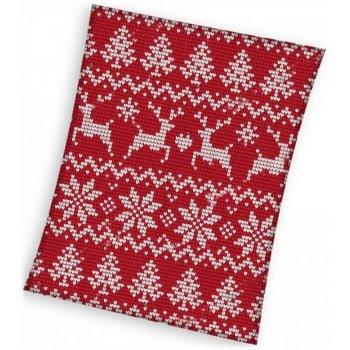Vánoční fleecová deka - norský vzor