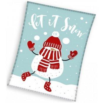 Vánoční fleecová deka - sněhulák