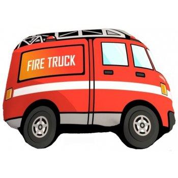 Tvarovaný 3D polštář hasičské auto