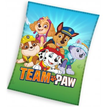Velká dětská fleecová deka Tlapková patrola - Paw Patrol