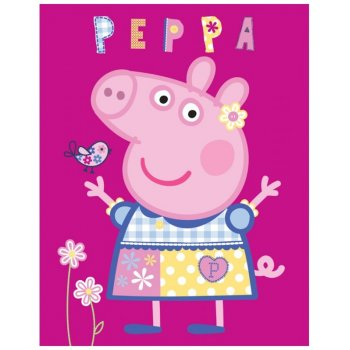 Dětská fleecová deka Prasátko Peppa - modelka
