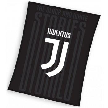 Velká fleecová deka Juventus FC - černá