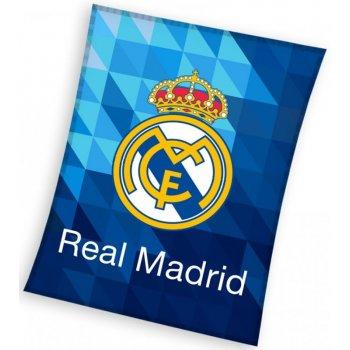 Velká fleecová deka FC Real Madrid - Blue crystal