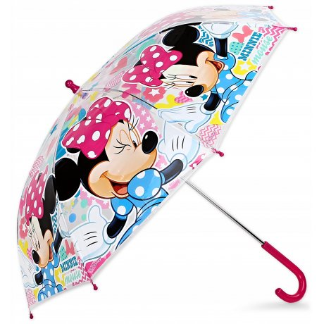 Dívčí průhledný deštník Minnie Mouse - Disney