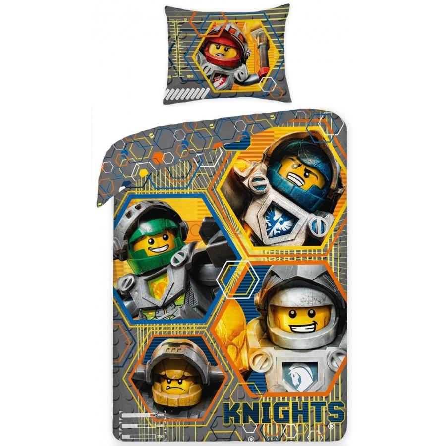 Halantex · Bavlněné povlečení LEGO NEXO KNIGHTS - 140 x 200 + 70 x 90 cm