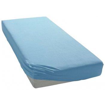 Jersey prostěradlo do dětské postýlky - 70 x 140 cm - modré