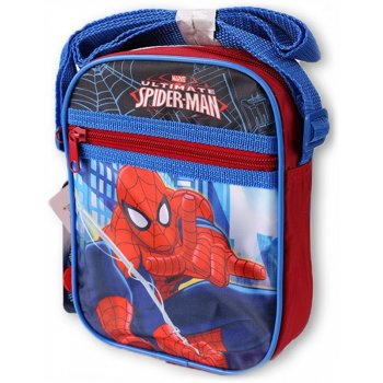 Taška přes rameno s přední kapsou Spiderman