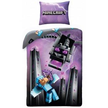 Bavlněné ložní povlečení Minecraft - Steve a Ender Dragon