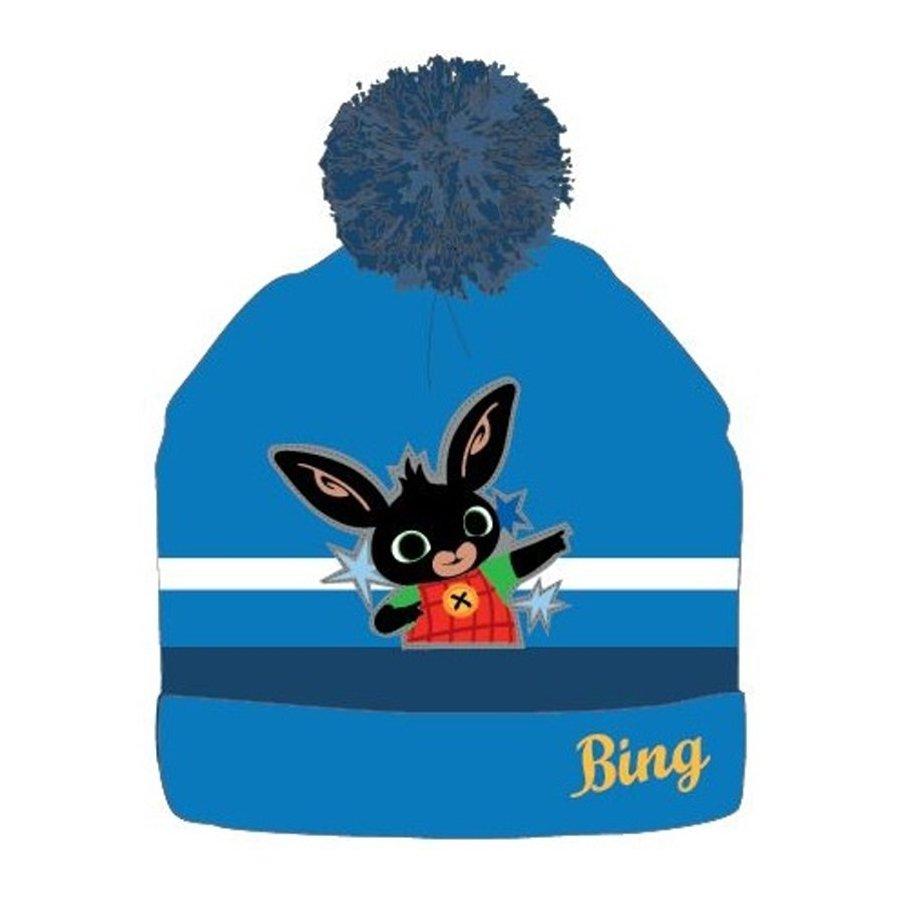 Dětská zimní čepice s bambulí Zajíček Bing