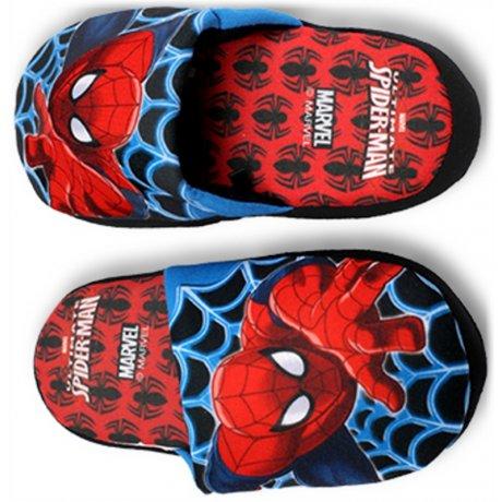 Chlapecké pantofle Spiderman - červené