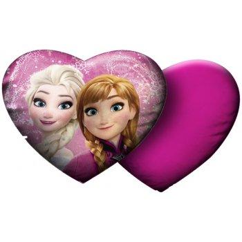 Tvarovaný polštář Ledové království - Frozen - srdce