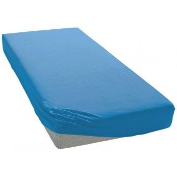 Jersey prostěradlo na jednolůžko - 90 x 200 cm - středně modré